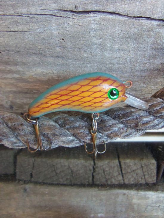Custom Painted Handmade Crankbait Fishing Lure by CandTCustomLures, $9.00