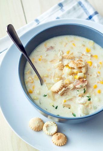 New England Corn Chowder  #food