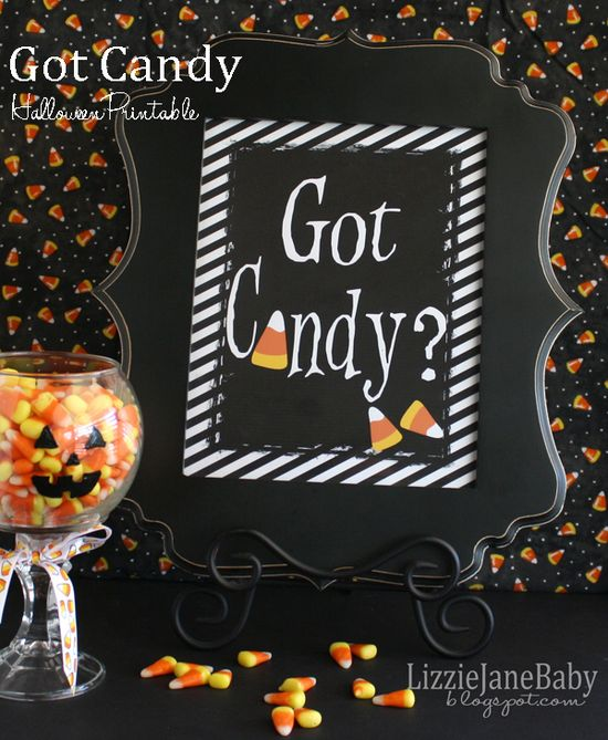 Got Candy? Free Halloween Printable