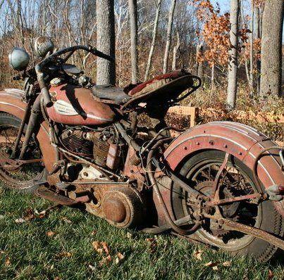 cool old motor bike!