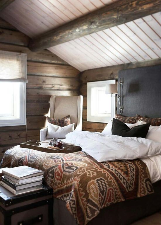 Bedroom, nice mix with rustic