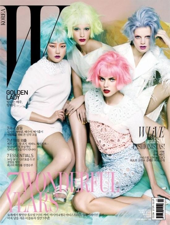 Pastel Pretties on the cover of W Korea