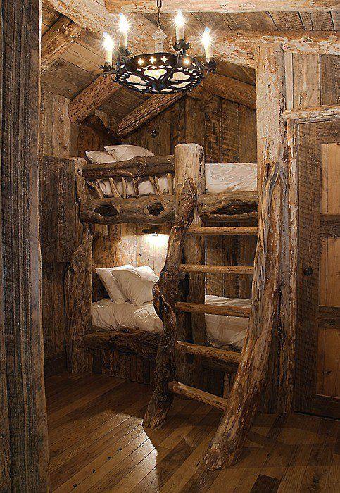 Rustic bunks.