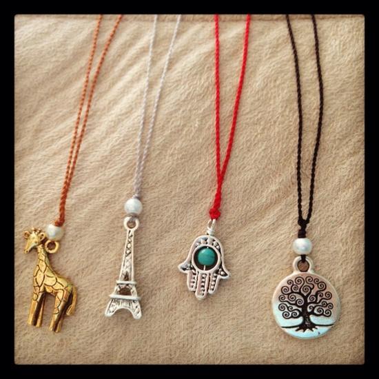 Handmade charm necklaces