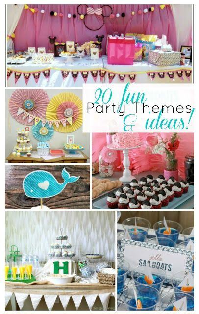 52 Mantels: 20 Party Ideas & Themes! {Features}  #partythemes #parties