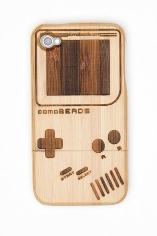 Gameboy Bamboo iPhone Case