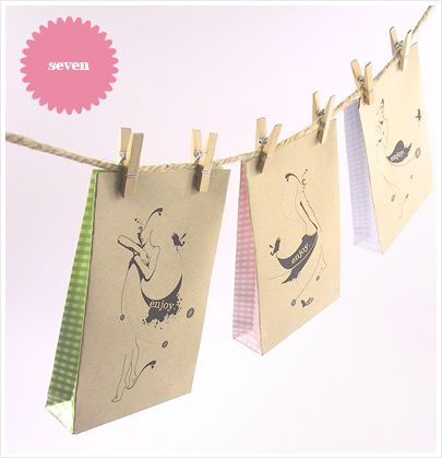 D.I.Y Stylish Party Favour Bags. Free templates!
