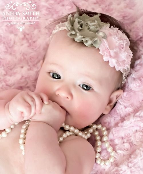 Adorable baby in pink