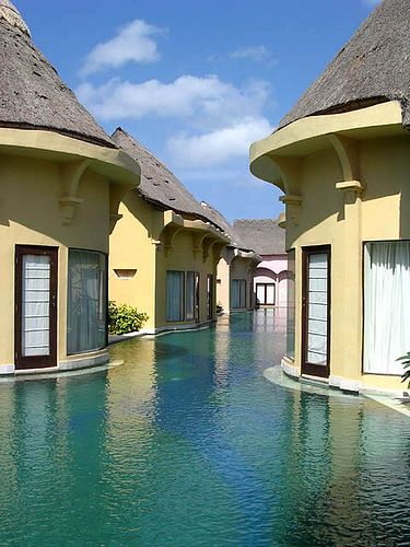 A resort in Bali - this looks pretty awesome.