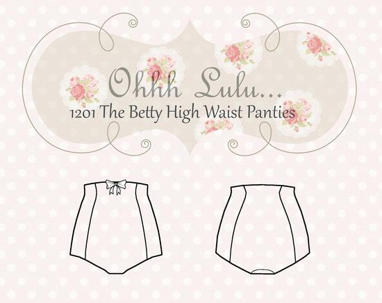 Ohhh Lulu The Betty High Waist Panties PDF Sewing Pattern. $9.00, via Etsy.