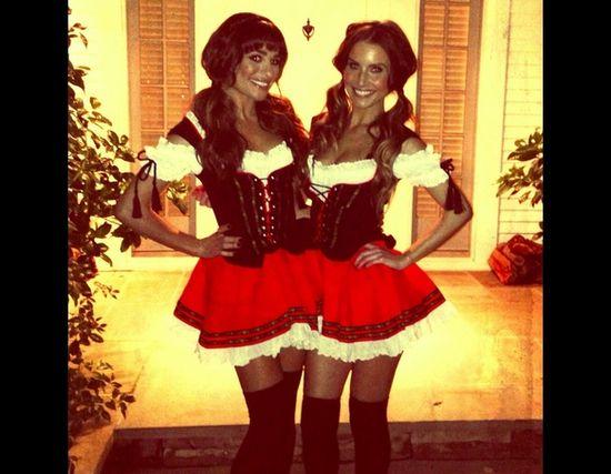 Lea Michele and friend
