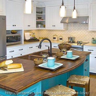 Gorgeous colors and textures #home #decor a splash of color in my white and black kitchen. the hall way wall?