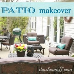 Patio Swing Before and After Makeover at diyshowoff.com