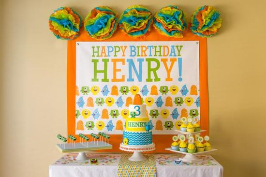 MONSTER BIRTHDAY PARTY BASH via Kara's Party Ideas karaspartyideas.com #monster #party #bash #birthday #idea #decor #cake #diy #favors #shop