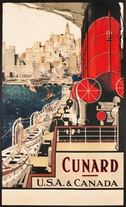 Frank H. Mason, Cunard USA & Canada, c. 1920 #vintage #travel #poster