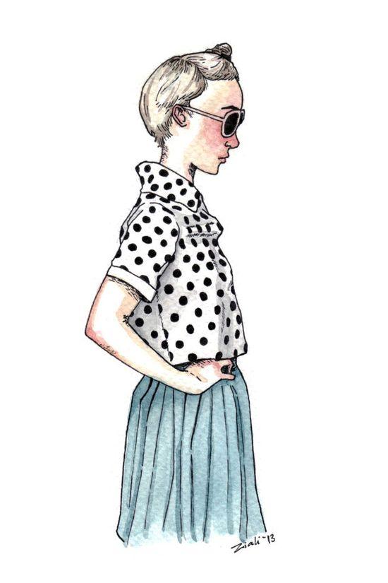 Illustration  Polka Dots