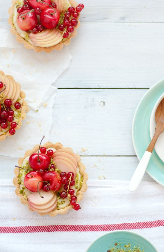 Stone Fruit Tarts w/ Coconut Pastry Cream