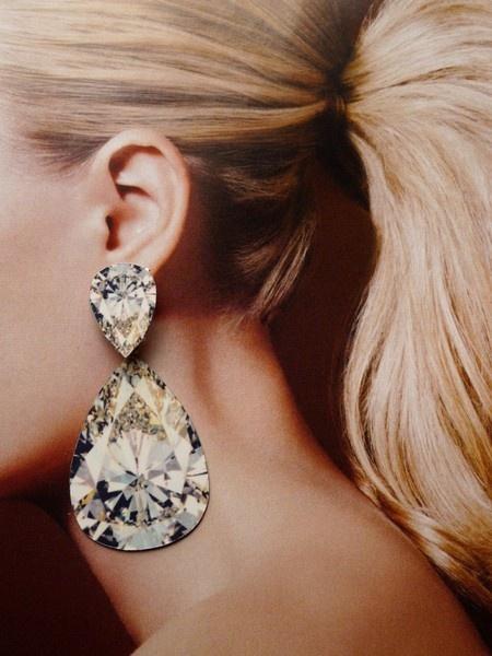 Incredible! Anna Davern digit print earrings. Sublimated print of diamonds on aluminum!