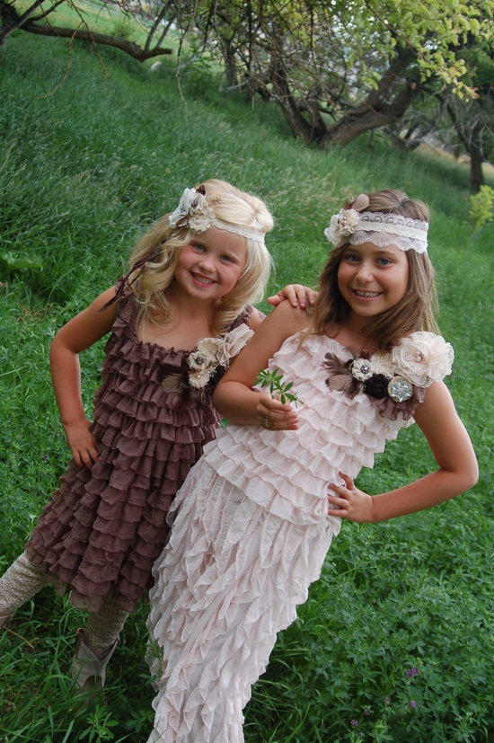 "Darling Ruffle Dress's & handmade headband find on Facebook ""Fairies in the Attic"""