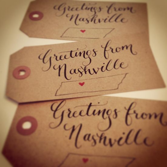 Practicing my calligraphy while creating gift tags for the holidays.