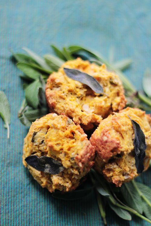 Pumpkin & Sage Savory Muffins