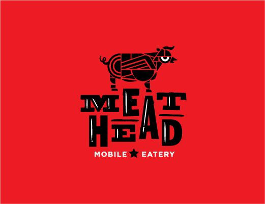 Meathead Food Truck - food truck logo design - by Seth Design Group