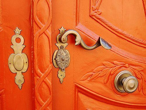 Orange doors.