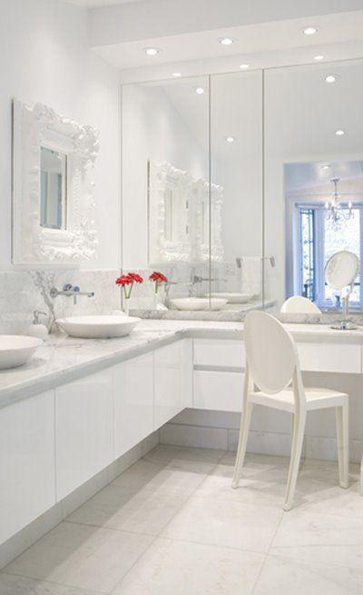 dylan's bathroom: white, chic, dreamy