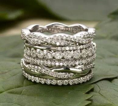 Rings-- love stacking!! Give your own unique look