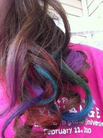 hair chalking!!!