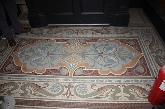 A really beautiful Victorian mosaic floor.