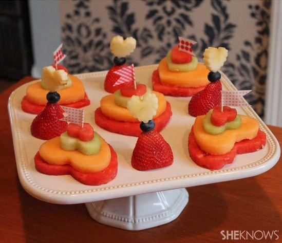 Edible art: Toothpick and fruit sculptures