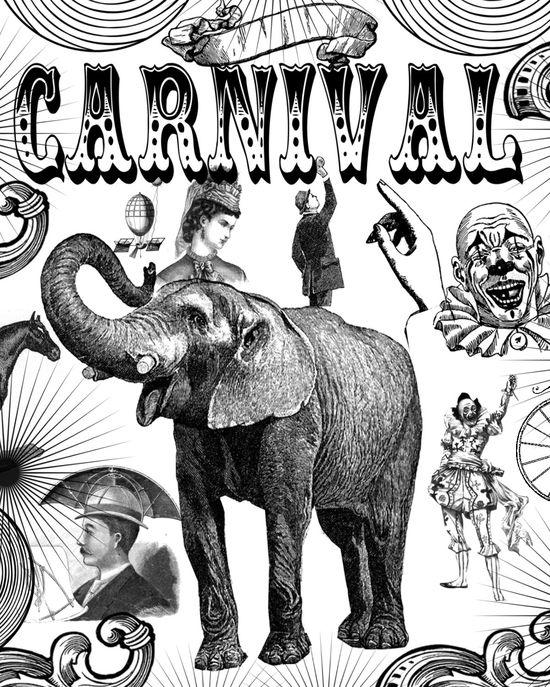 **FREE ViNTaGE DiGiTaL STaMPS**: Carnival Collage