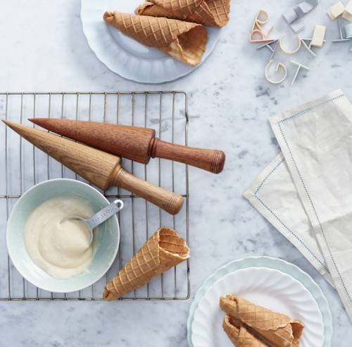 Handmade Ice Cream Cones...if I'm going to make the ice cream, I may as well try these. :)