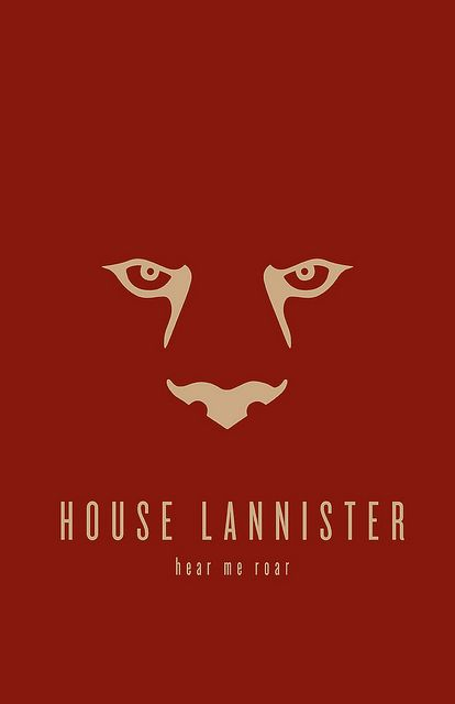 House Lannister, Game of Thrones  Minimalist Poster by Thomas Gately
