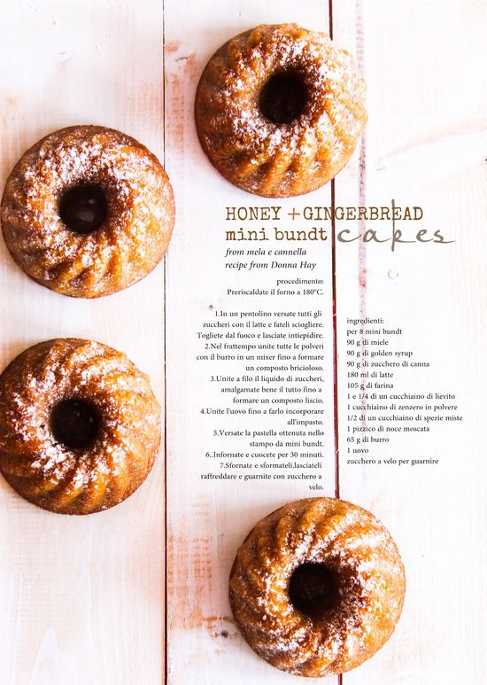 honey & gingerbread mini bundt cakes
