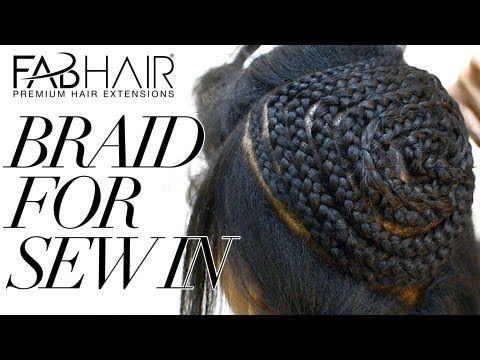 HOW TO: BRAID FOR SEW IN WEAVE - VIRGIN BRAZILIAN HAIR #handmade dolls #belly button piercing #handmade handgun pos
