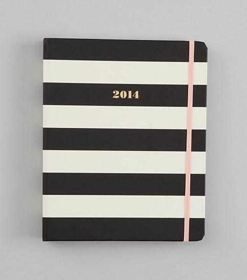 kate spade 2014 striped agenda.