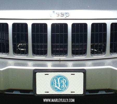 Monogrammed License Plates