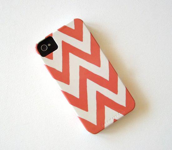 Chevron PINK  IPhone 4/4s case Pattern Geometric by redtilestudio, $36.00