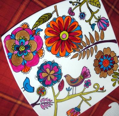 Painting plates.. porcelain pens