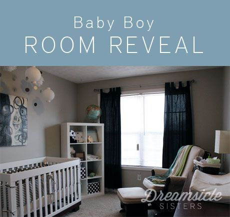 Baby Boy Room - love the placement of furniture here