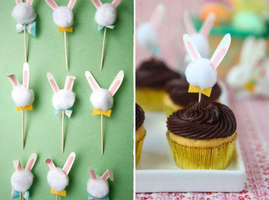 Bunny Cupcake Toppers DIY