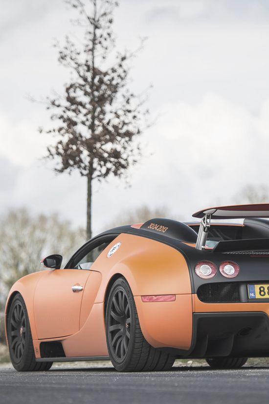 ? Orange Car Bugatti Veyron 16.4 #cars #wheels #automotive #Bugatti