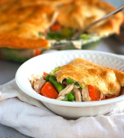 garlic chicken & veggie pot pie