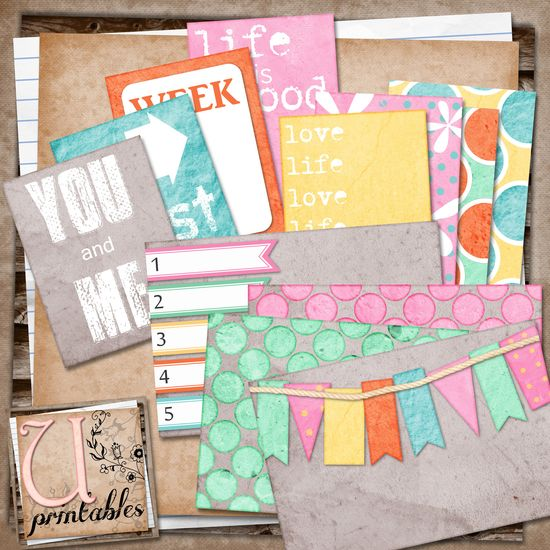 Free Project Life Candy Journal Cards Printable from U printables by RebeccaB