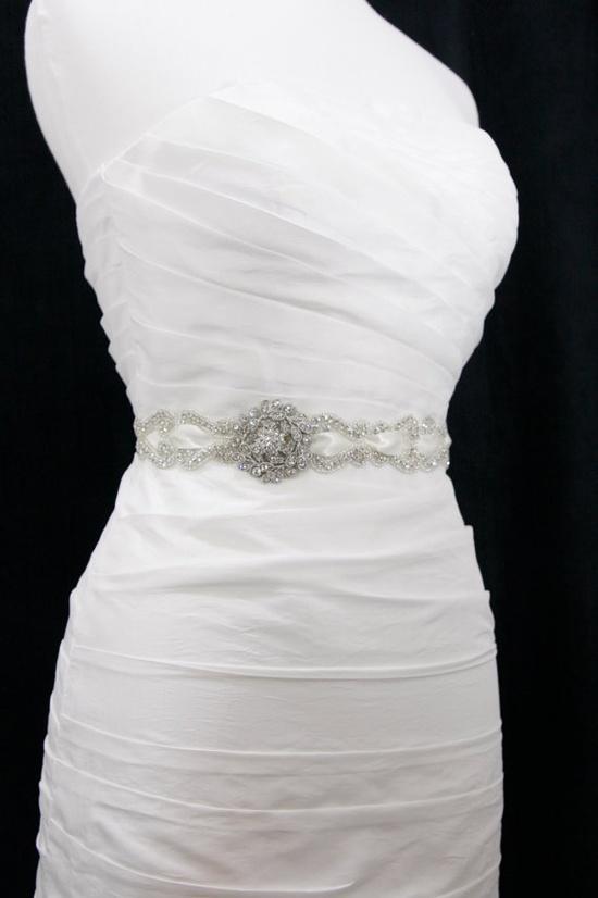 vintage wedding sash