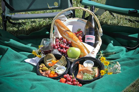 Don't worry about preparing and packing a picnic for one of our many outdoor concerts this summer ~ order a Deer Valley Gourmet Picnic Basket or Bag. New this season, vegetarian, gluten-free, and vegan options are available along with children's single picnic bags. #deervalleyresort #summer #picnicbasket #gourmet #food #mountainresort #parkcity #utah