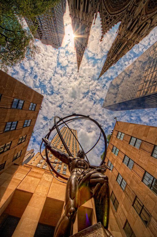 Rockefeller Center in NYC...great shot
