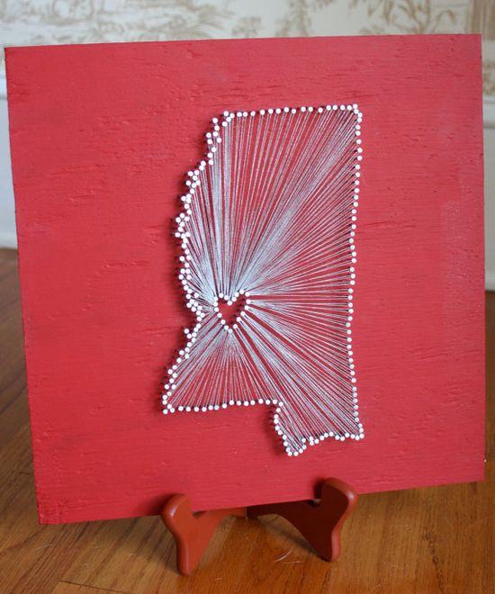 Felt and framed? String art.